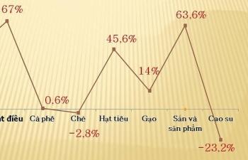 5/8 nhóm hàng nông sản xuất khẩu tăng trưởng 2 con số
