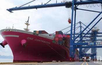 Cảng container quốc tế Hải Phòng đã đón 570 chuyến tàu vào làm hàng