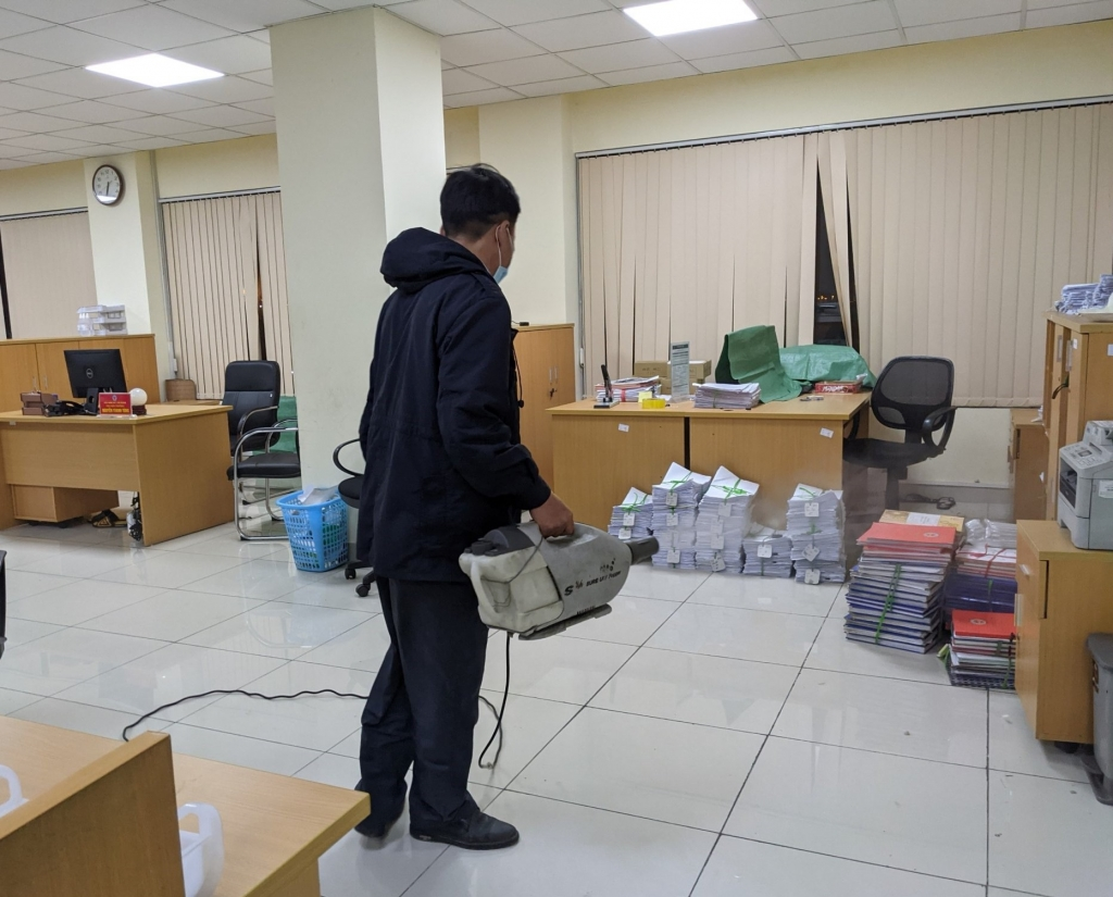 Hình ảnh Hải quan cửa khẩu ở Hải Phòng kích hoạt các biện pháp phòng dịch