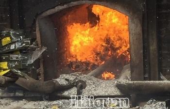 Tiêu hủy 500.000 bao thuốc lá tại Hải Phòng