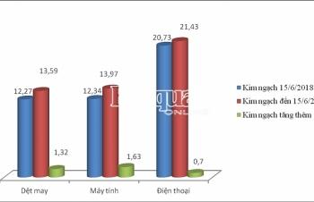Chi tiết xuất nhập khẩu nửa đầu tháng 6
