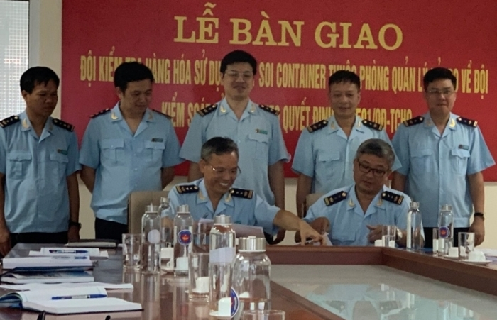 Lực lượng quản lý máy soi container Hải Phòng chính thức về đơn vị mới