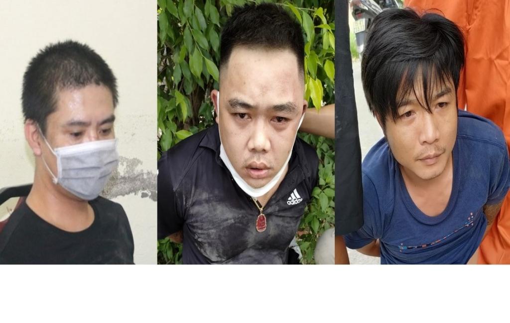 Hình ảnh vụ bắt 3 đối tượng mang súng đi buôn ma túy tại Hải Phòng
