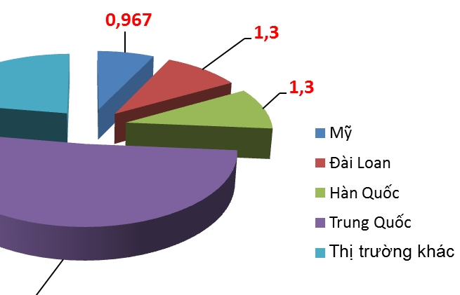 Trung Quốc chiếm hơn 50% kim ngạch nhập khẩu nguyên liệu dệt may, da giày