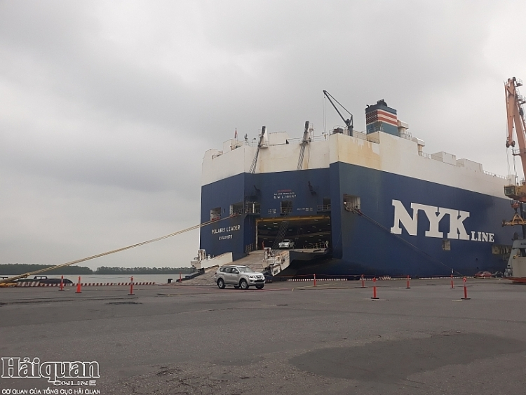 Cảng Tân Vũ sẵn sàng đón tàu chở hơn 1.000 ô tô nhập khẩu