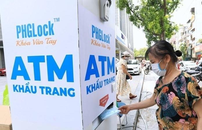 Lắp đặt cây ATM khẩu trang tại Hà Nội