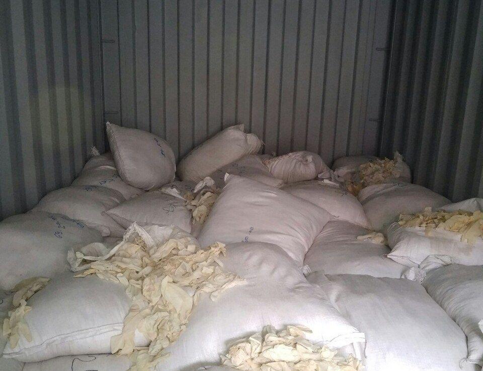 Bắt giữ hơn 3 tấn găng tay cao su đã qua sử dụng tại khu vực cảng Hải Phòng