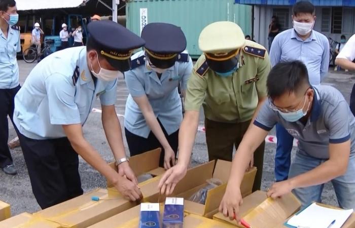 Hải quan Hải Phòng bắt giữ 1 triệu bao thuốc lá giả nhãn hiệu 555