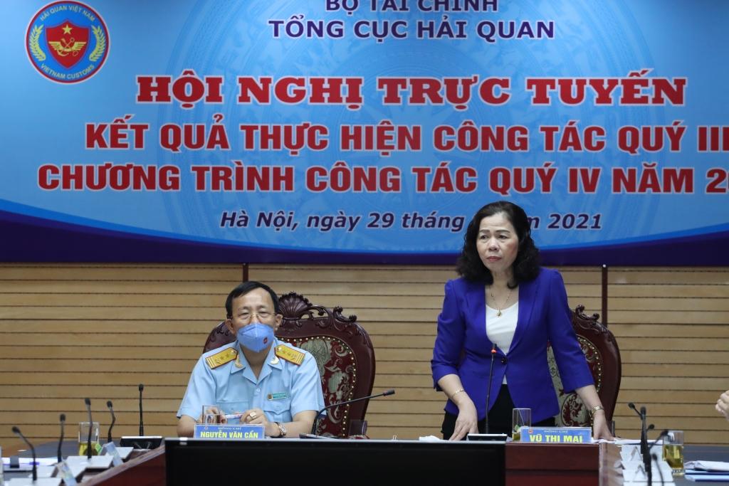 Thứ trưởng Vũ Thị Mai: Đảm bảo tốt công tác quản lý hải quan trong bối cảnh dịch Covid-19