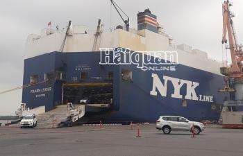 Ô tô nhập khẩu đóng góp 39% số thu của Hải quan Hải Phòng khu vực 1
