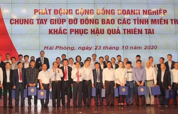 Hải Phòng hỗ trợ 120 tỷ đồng cho 6 tỉnh miền Trung