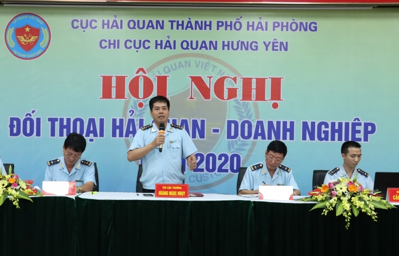 Hải quan Hưng Yên đối thoại với 150 doanh nghiệp