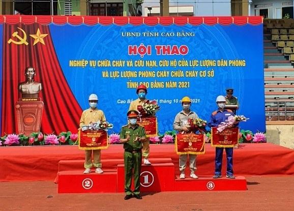 Hải quan Cao Bằng đoạt giải Nhất hội thao nghiệp vụ phòng cháy, chữa cháy