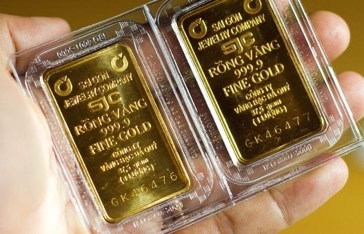 Giá vàng SJC tăng, cao hơn thế giới gần 8 triệu đồng/lượng