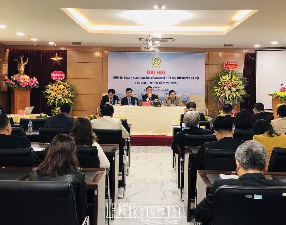 Đại hội Hiệp hội các doanh nghiệp ngành công nghiệp hỗ trợ Hà Nội. Ảnh: H.Dịu