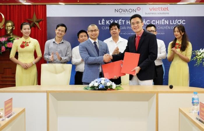 NOVAON hợp tác với Viettel Solutions về công nghệ chuyển đổi số