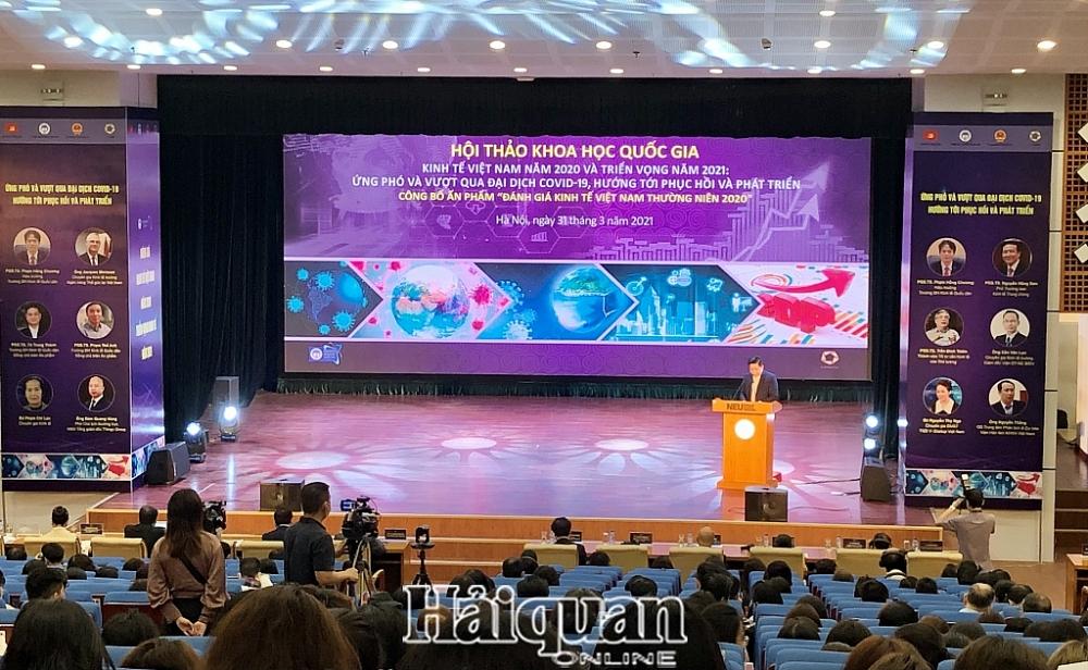 Hội thảo khoa học quốc gia của Trường Đại học Kinh tế quốc dân. Ảnh: H.Dịu
