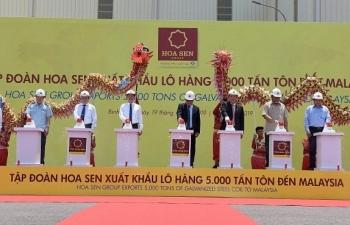 Hoa Sen tiếp tục xuất khẩu 5.000 tấn tôn đến Malaysia