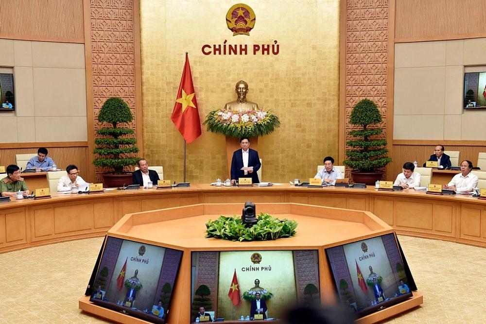 Chính phủ họp triển khai công việc sau khi kiện toàn. Ảnh: Baochinhphu.vn