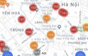Bộ TNMT: Thông tin ô nhiễm trên các ứng dụng chỉ mang tính tham khảo