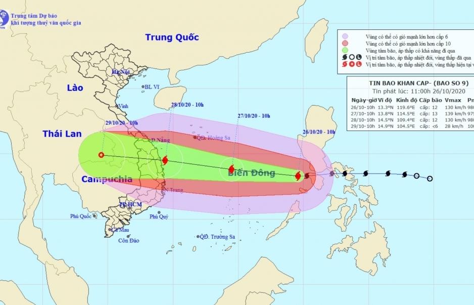 Thủ tướng Chính phủ chỉ đạo triển khai ứng phó khẩn cấp bão số 9