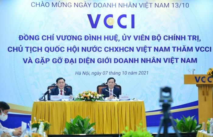 Chủ tịch Quốc hội: Người dân và doanh nghiệp ở vị trí trung tâm của mọi quyết sách