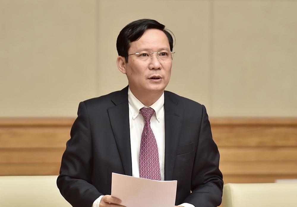 Chủ tịch VCCI Phạm Tấn Công phát biểu tại buổi gặp mặt với Thủ tướng. Ảnh: VGP