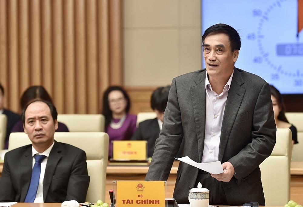 Thứ trưởng Bộ Tài chính Trần Xuân Hà phát biểu tại buổi làm việc. Ảnh: VGP