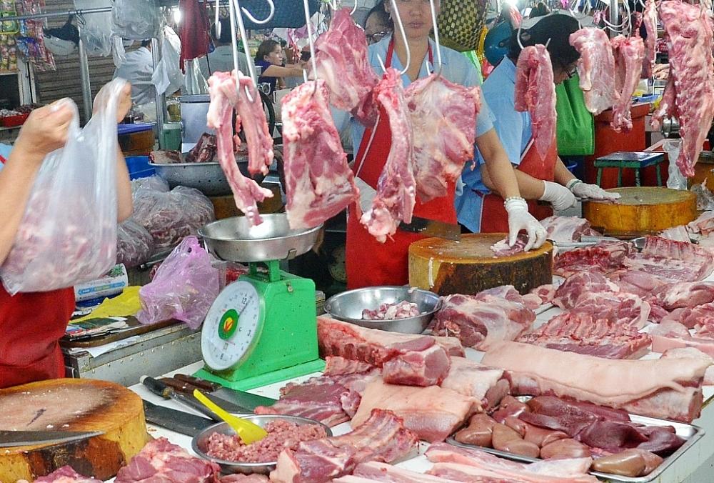 Tiếp tục giảm giá thịt lợn về mức hợp lý. Ảnh: Internet