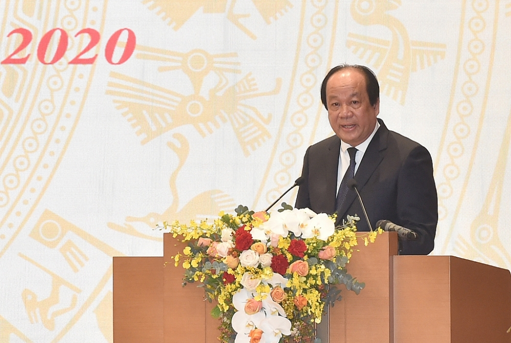 Bộ trưởng, Chủ nhiệm VPCP Mai Tiến Dũng phát biểu tại Hội nghị. Ảnh: VGP