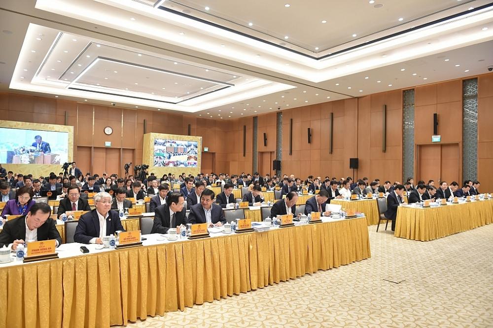 Đại diện các bộ, ngành tham dự Hội nghị Chính phủ với địa phương. Ảnh: VGP