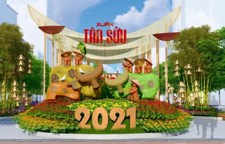 Đường hoa Nguyễn Huệ tết Tân Sửu 2021 có gì mới?