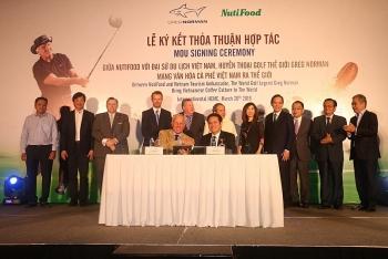 NutiFood hợp tác cùng Huyền thoại golf Greg Norman mang văn hoá cà phê Việt ra thế giới