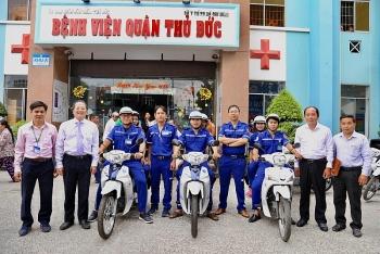 TPHCM đưa triển khai mô hình xe cấp cứu 2 bánh tại Bệnh viện Quận Thủ Đức