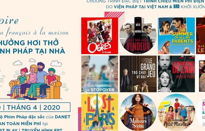 Tận hưởng hơi thở điện ảnh Pháp tại nhà