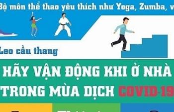 TPHCM khuyến nghị người dân tăng cường thể dục khi ở nhà tránh Covid-19