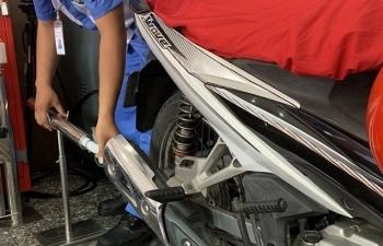 TPHCM kiểm tra khí thải xe máy miễn phí cho người dân