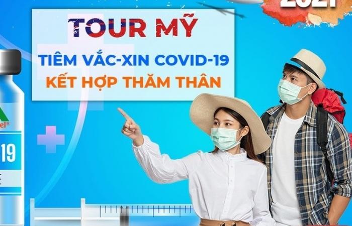 Ngưng quảng cáo tour đi Mỹ tiêm vắc xin