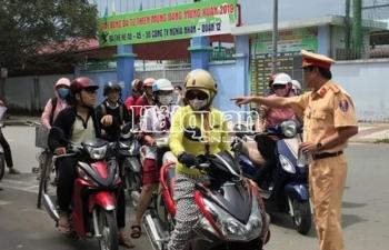 TPHCM: Cảnh sát giao thông ra quân đảm bảo an toàn giao thông kỳ thi THPT quốc gia 2019