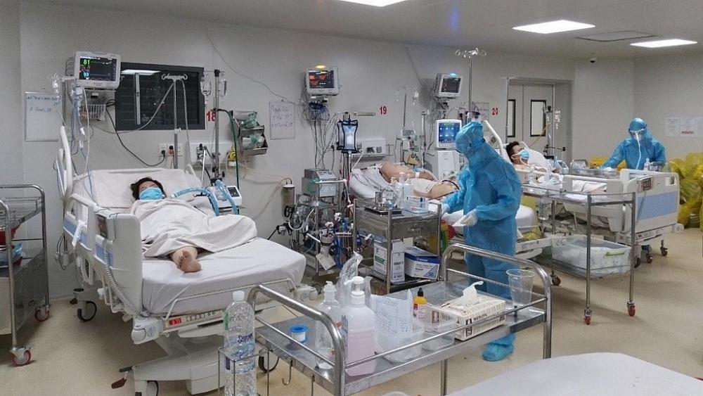 Bệnh nhân điều trị Covid-19 tại Bệnh viện Bệnh Nhiệt Đới TPHCM. Ảnh BV cung cấp.