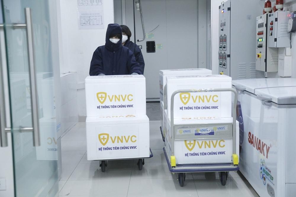 Lô vắc xin đã được thông quan nhanh và đưa vào bảo quản.