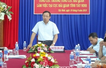 Tổng cục trưởng Nguyễn Văn Cẩn làm việc với Cục Hải quan Tây Ninh