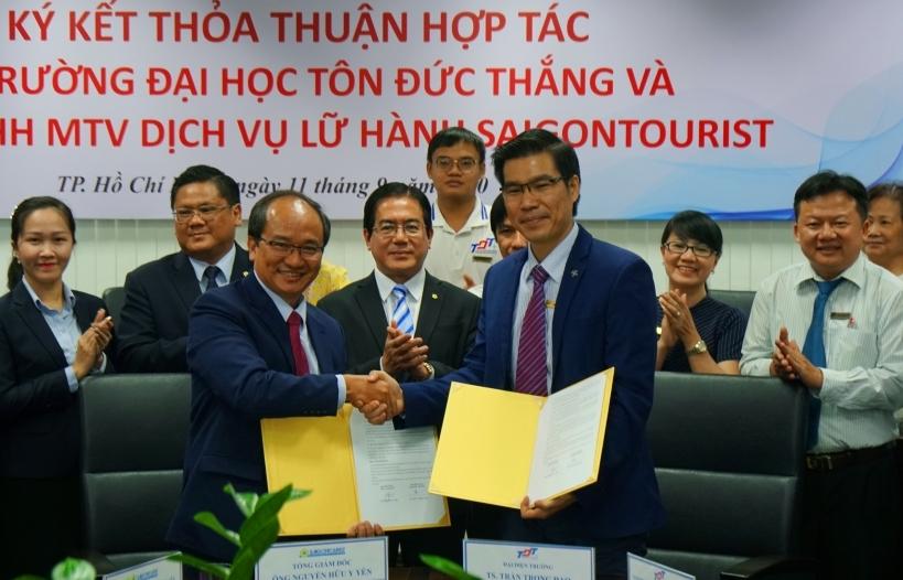 Lữ hành Saigontourist hợp tác với trường Đại học Tôn Đức Thắng đào tạo nhân lực chất lượng cao