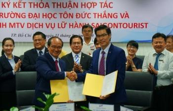 lu hanh saigontourist hop tac voi truong dai hoc ton duc thang dao tao nhan luc chat luong cao