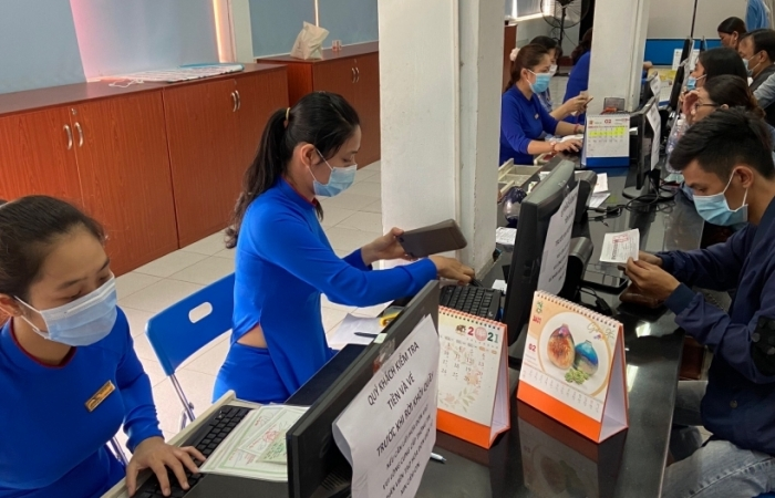 Ga Sài Gòn thông thoáng trong ngày đầu tiên bán vé Tết Tân Sửu 2021
