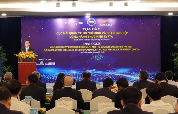 """Trên 200 doanh nghiệp tham dự toạ đàm """"Cục Hải quan TPHCM và Doanh nghiệp đồng hành thực hiện EVFTA"""""""