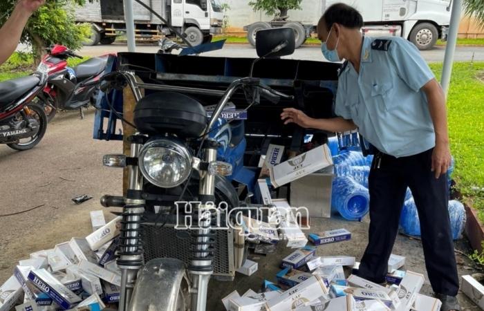 Lật tẩy thủ đoạn vận chuyển thuốc lá lậu bằng xe lôi