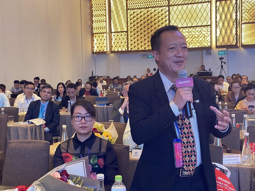 Đại diện doanh nghiệp nêu ý kiến tại Diễn đàn.