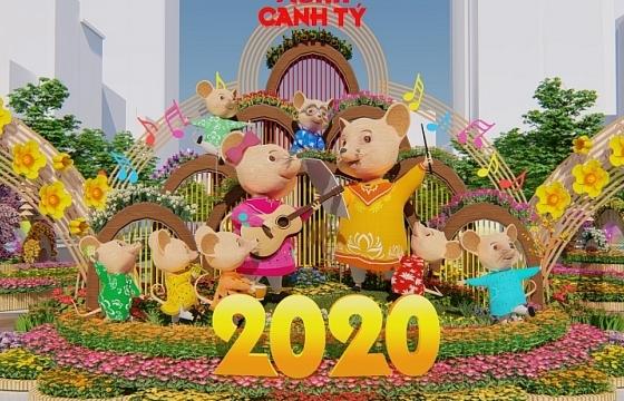 duong hoa nguyen hue xuan canh ty 2020 mang thong diep bao ve moi truong