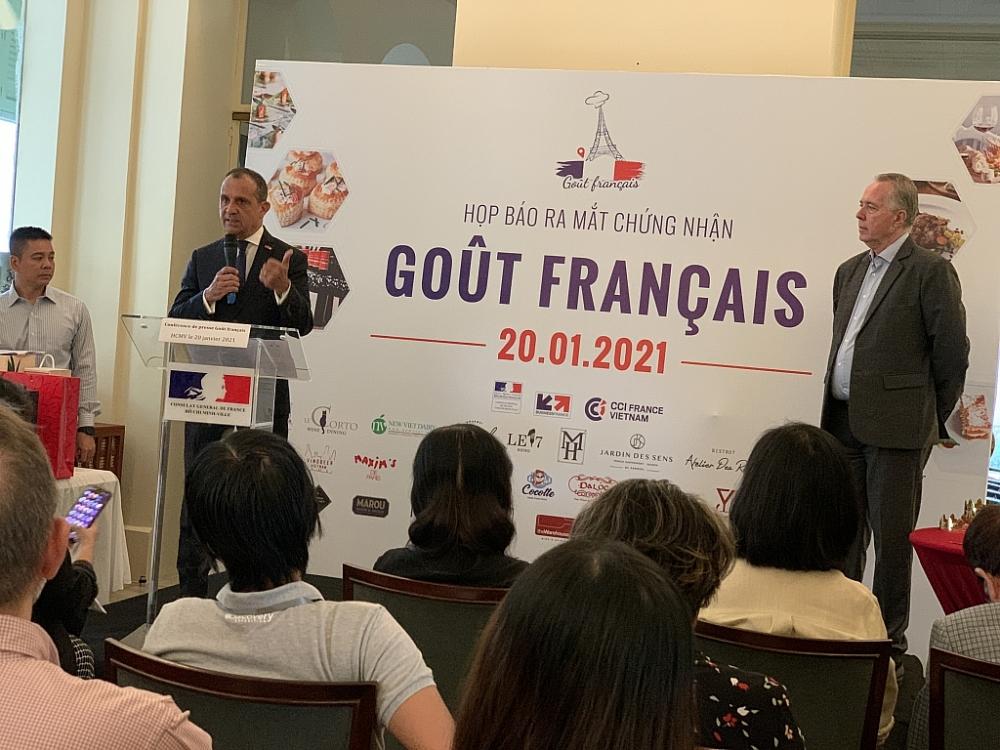 Tổng lãnh sự Pháp tại TPHCM Vincent Floreani giới thiệu về chứng nhận Goût Français